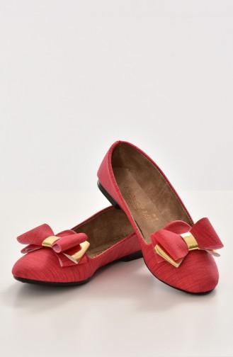 Red Woman Flat Shoe 50192-12