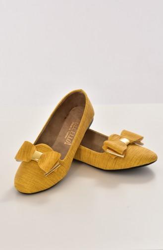 Yellow Woman Flat Shoe 50192-02