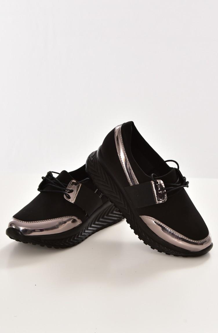 Pour Femme Noir Chaussures Sport 2805k 01 rdCoeQxBW