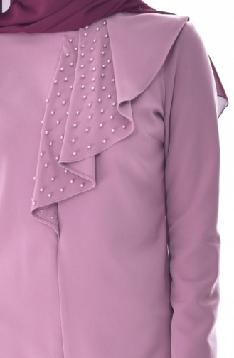 Pearls Tunic Trousers Double Suit 6134-01 Dried Rose 6134-01