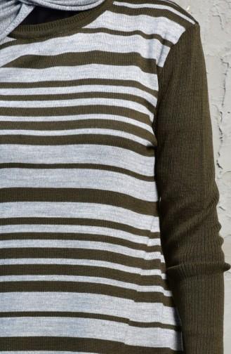 iLMEK Striped Tunic 4072 -07 Khaki 4072  -07