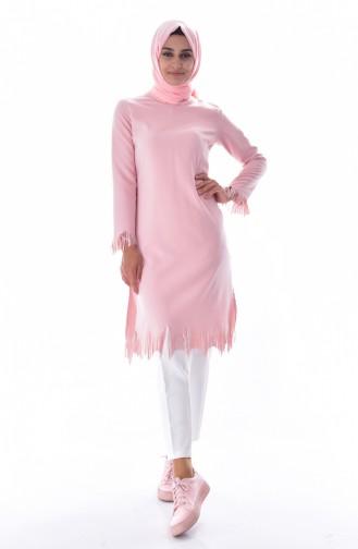 Tunik Pantolon İkili Takım 6135-01 Pudra 6135-01