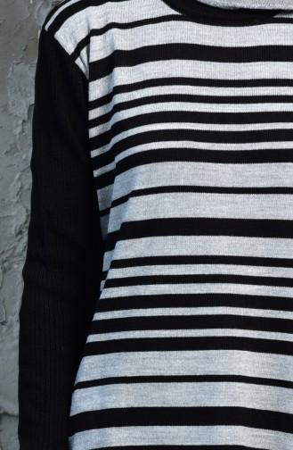 iLMEK Striped Tunic 4072 -01 Black 4072  -01