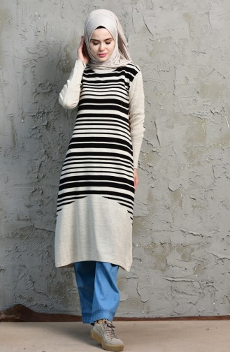 iLMEK Striped Tunic 4072 -02 Mink 4072  -02