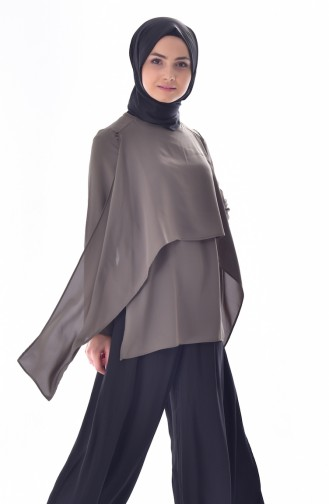 Khaki Blouse 61037-02