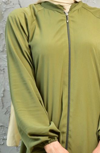 Zippered Abaya 4005-01 Khaki 4005-01