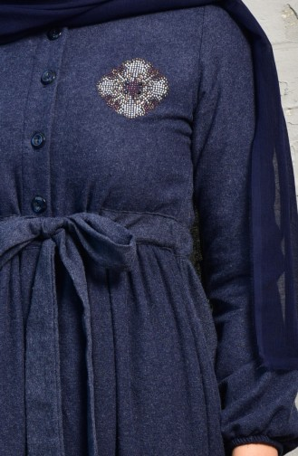 Indigo Hijab Dress 2030-02