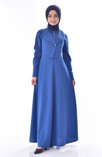 Pearls Dress 1867-01 Indigo 1867-01
