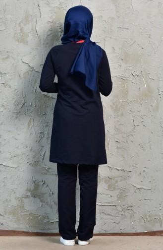 Navy Blue Sweatsuit 8243-01