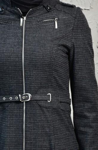 Hooded Zippered Coats 1140-01 Smoked 1140-01