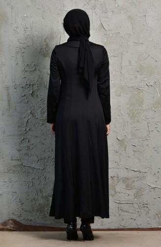 Fermuarlı Pardesü 1064-02 Siyah 1064-02