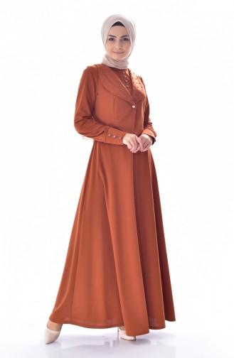 İncili Elbise 1867-04 Taba