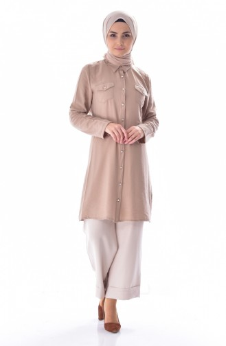 Pocketed Tunic 6008-04 Mink 6008-04