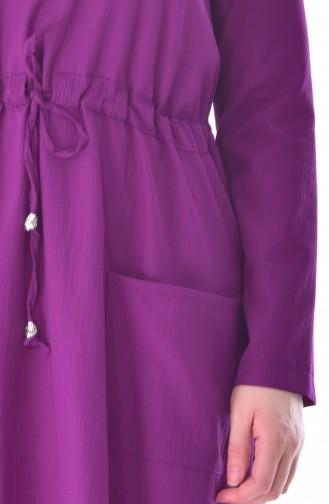 Robe a Lacets et Poches 8039-08 Plum 8039-08