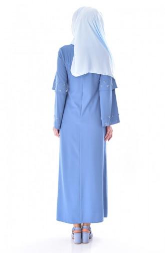 Blue İslamitische Jurk 0874-03