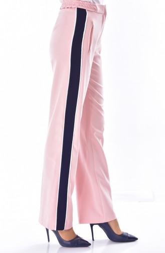 Pantalon Simple Détail Poches 1616-05 Poudre 1616-05