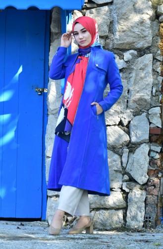 Caban a Fermeture 1137-01 Bleu Roi 1137-01