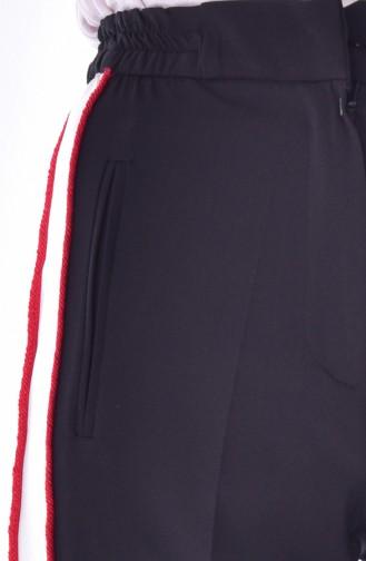 Cep Detaylı Düz Paça Pantolon 1616-01 Siyah 1616-01
