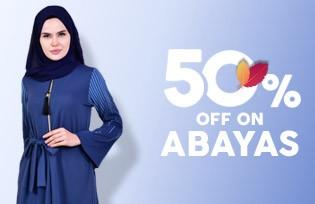 50% Off Cart on Abayas