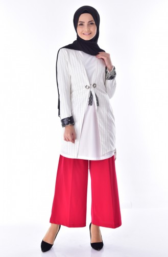 Striped Cape 7702-02 White 7702-02