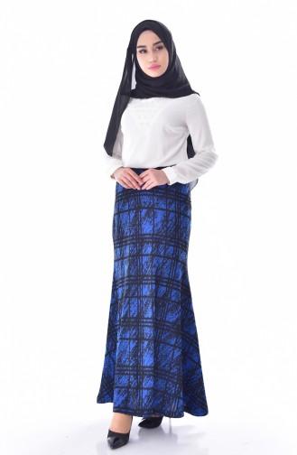 Plaid Skirt 30911-02 Black Saks 30911-02