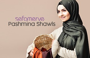 Sefermerve Pashmina Shawls 90508