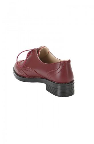 Chaussures Oxford Pour Femme 3766 Bordeaux 3766