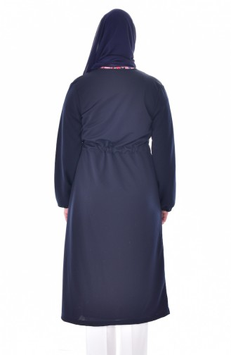 Belt Double Breasted Cardigan 5195-02 Navy 5195-02