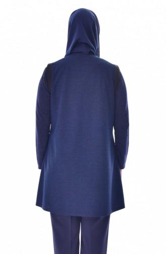 Large Size Pocket Vest 1509-03 Navy Blue 1509-03