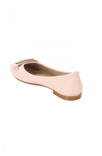 حذاء مسطح باليرينا 3730-03 لون وردي 3730-03