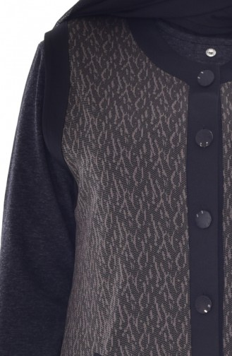 Gilet a Boutons Grande Taille 1508-01 Noir 1508-01