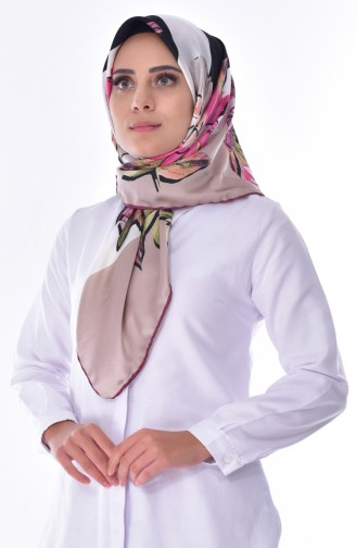 Patterned Shawl 2078-08 Dry Rose 2078-08