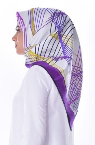 Levidor Silk Shawl 2059-02 Violet 02