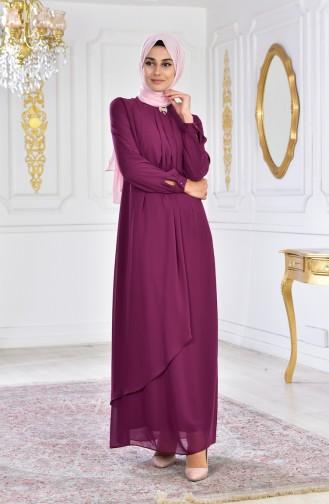 Zwetschge Hijab-Abendkleider 8585-04