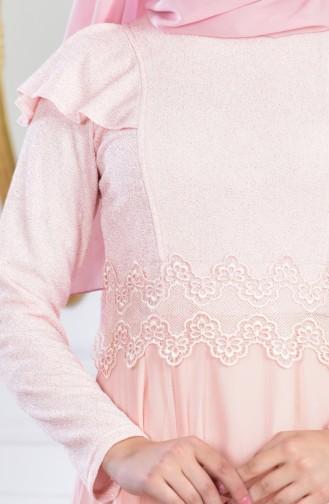 Robe de Soirée a Paillettes 2585-03 Poudre 2585-03