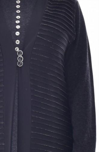 Gilet a Froufrous Grande Taille 4753A-01 Noir 4753A-01