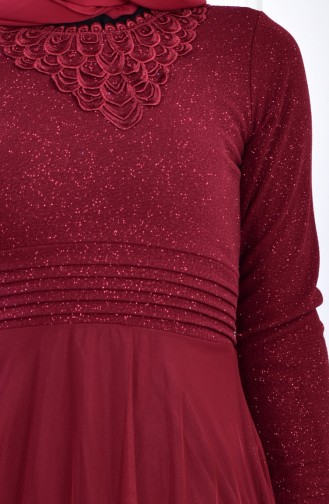 Robe de Soirée 2592-01 Bordeaux 2592-01