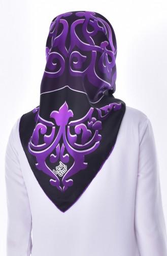 Levidor Silk Shawl 2047-10 Black Purple 2047-10