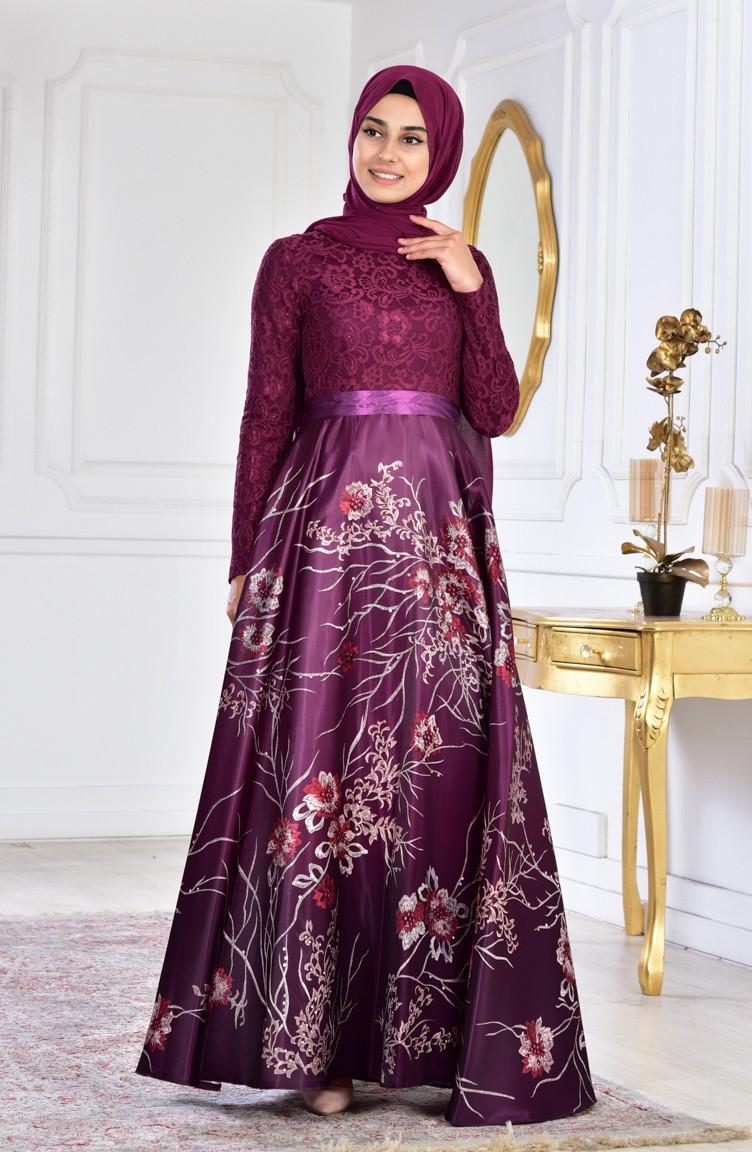 980aa7ab Plus Size Long Sleeve Lace Evening Dress   Saddha