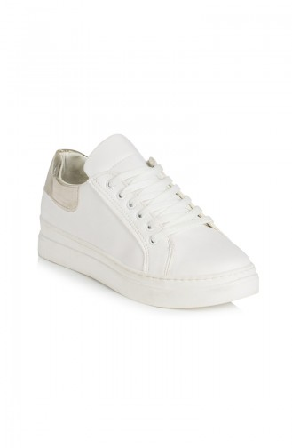 White Sport Shoes 50033