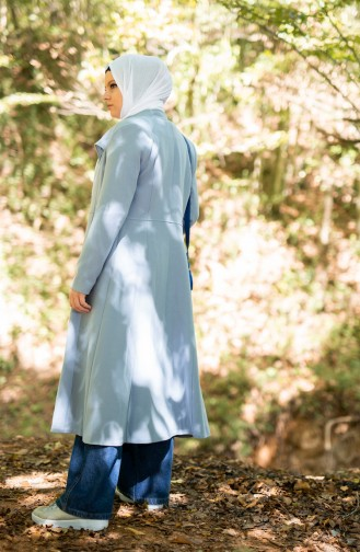 Judge Collar Coat 1136-01 Ice Blue 1136-01