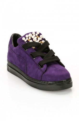Purple Casual Shoes 6056