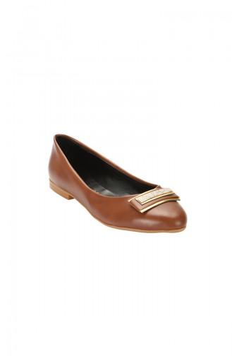 حذاء مسطح باليرينا 3730-01 لون عسلي 3730-01