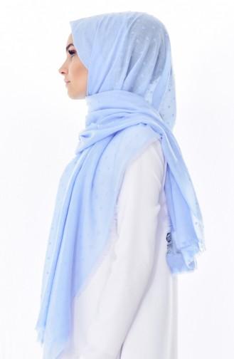 Ponponlu Shawl 19041-09 Baby Blue 19042-09