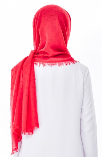 Ponponlu Shawl 19042-15 Red 19042-15