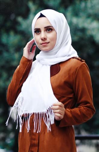 Sefamerv Pashmina Shawl 90508-52 White 52