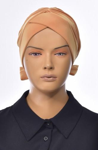 Bonnet Croisé Double Face avec Noeud 0023-10 Moutarde 0023-10