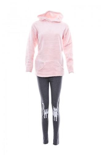 Hooded Women Pajamas Suit MLB1032-01 Pink 1032-01