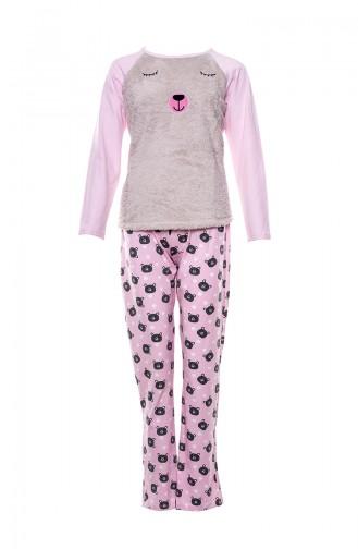 Patterned Women´s Pajamas Suit MLB1034-01 Pink 1034-01