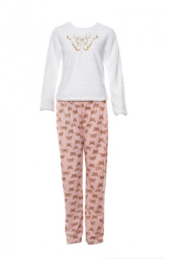 Embroidered Women´s Pajamas Suit MLB1037-01 Pink 1037-01